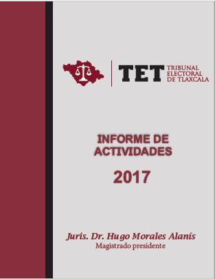 Rinde Presidente del TET 2do. Informe Anual de Actividades